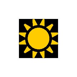Céu claro e plenamente ensolarado