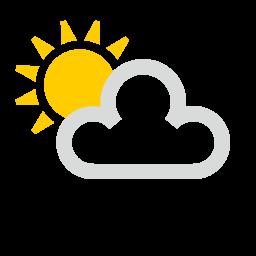 Sol parcialmente nublado
